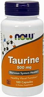 Now Foods La taurina. 500 mg - 100 caps 100 Unidades 100 g