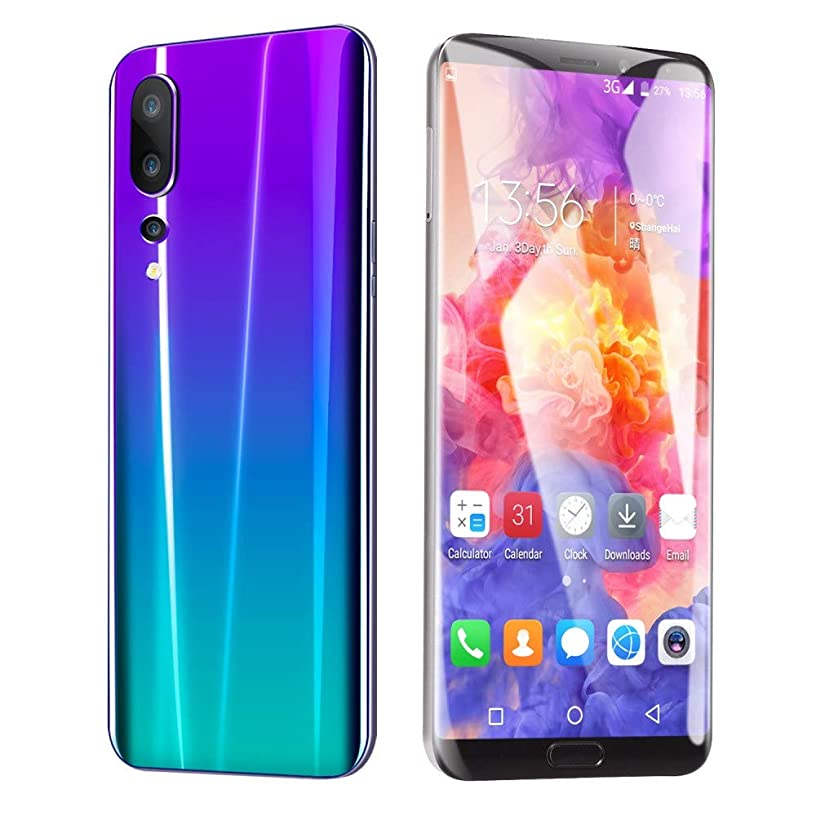 Choosebuy Unlocked Cell Phones, 6.1 inch Dual SIM HD Camera Smartphone Android 8.1 Bluetooth WiFi Eight Cores 3GB GPS Call Mobile Phone 1G RAM+8GB ROM Extended memory 64G (Purple)