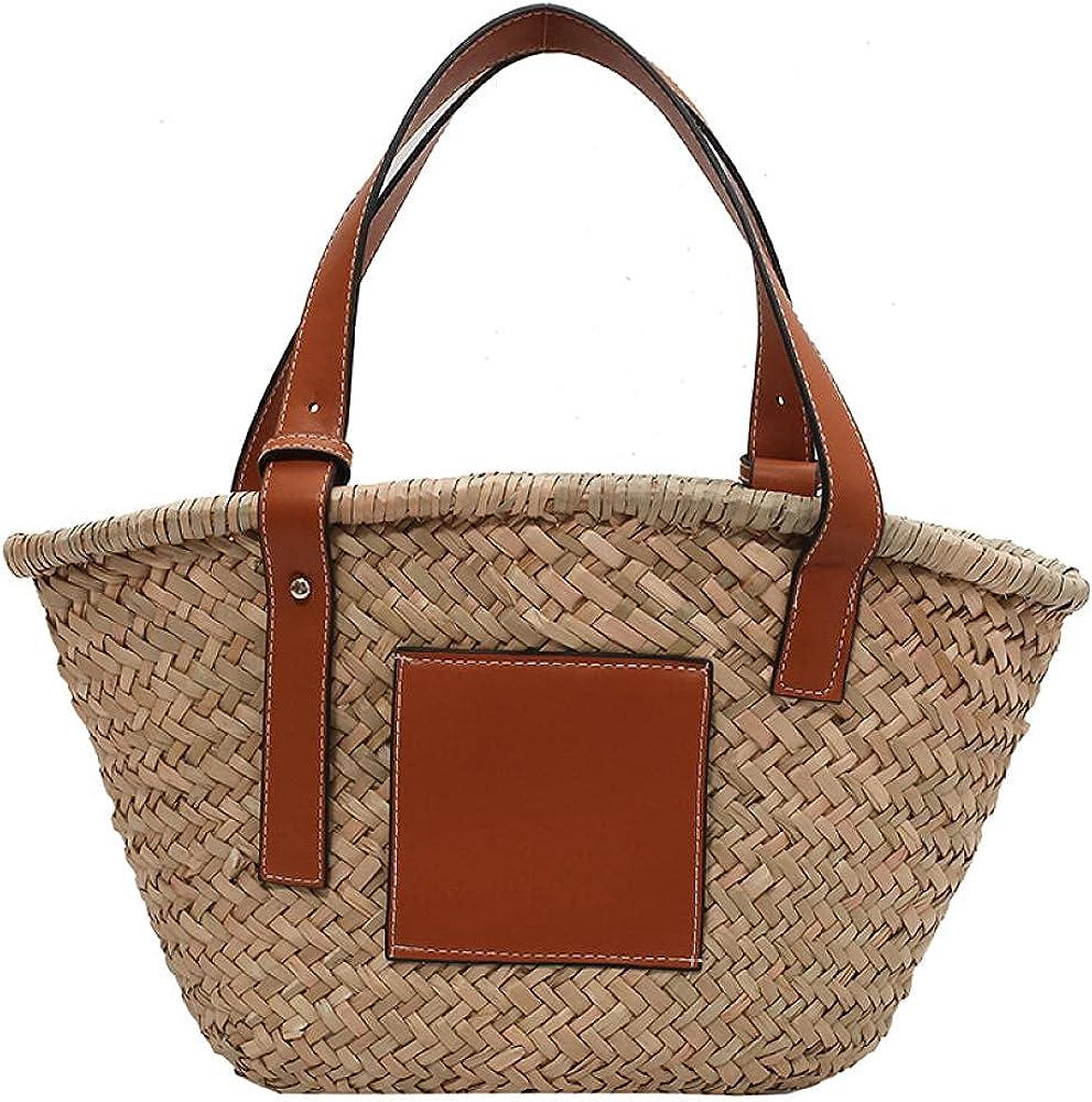 Superior Beach Handwoven Bag Straw bag ha Regular store basket vegetable capacity large