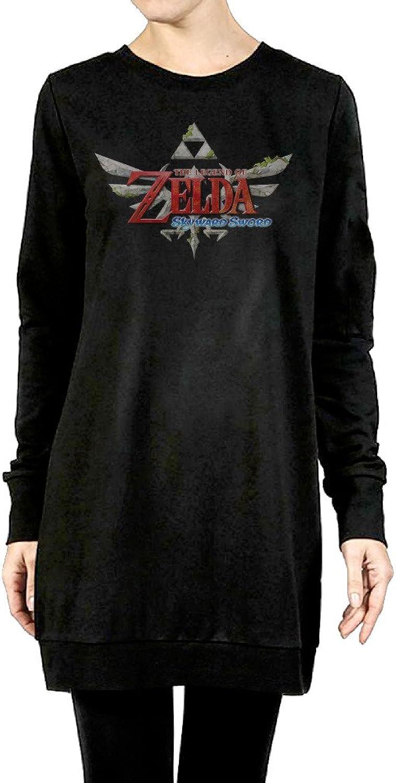 The Legend Of Zelda Women's Long Hoodie Black