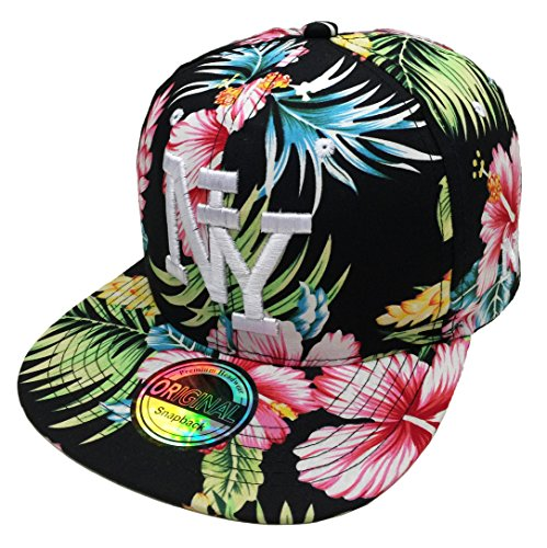 Snapback NY USA Sommer Summer Hawaii Cap Kappe Starter Basecap Mütze Trucker Cappy Kult Unisex Baseball (NY #5)