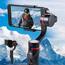 Black Handheld Phone Gimbal Stabilizer Stabilisator 3-Axis iPhone Samsung Filming Supports Smart Phone Below 6 inch