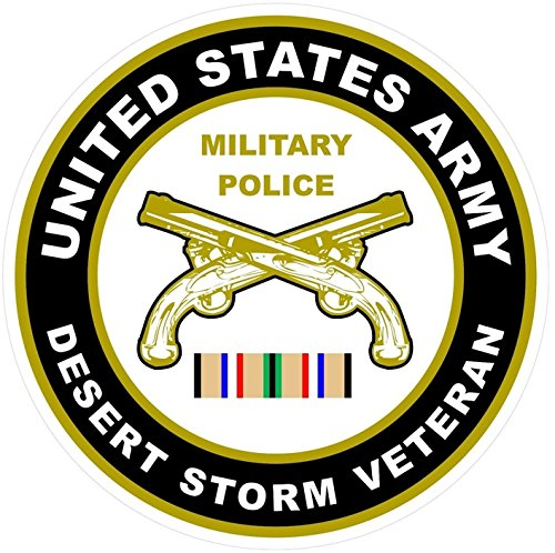 1-Pc Lavish Unique United States Army Military Police Desert Storm Veteran US Sticker Signs Doors Home Trucks Window Decal Truck Bumper Decals Macbook Laptop Wall Car Decor Stickers Size 4.5