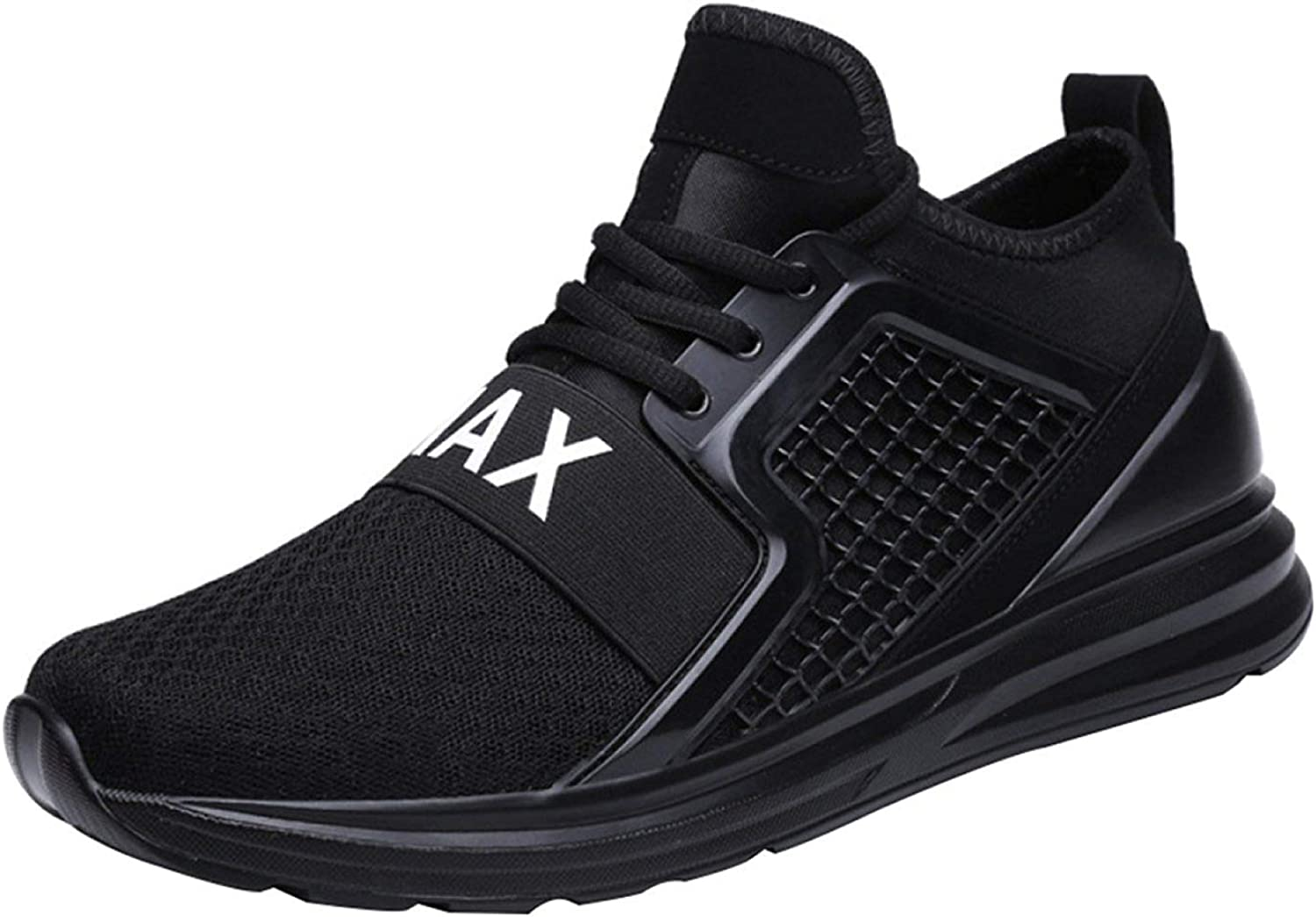 Men's Running shoes Casual Sneakers Breathable Hiking Fashion (color   Black, Size   46EU)