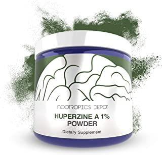 Huperzine A 1% Powder | 1 Gram | Nootropic Brain Supplement | Supports Memory and Learning | Acetylcholine Booster