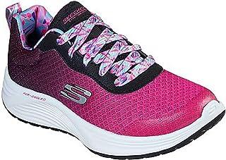 Skechers Kid's Skyline Geo Dancer Girls Fashion Sneakers Black/Hot Pink 10.5 Little Kid