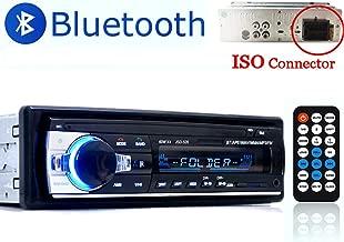 PolarLander Auto Radio, Autoradio Bluetooth, Manos Libres Radio Estéreo de Coche, Apoyo de Reproductor MP3, Llamadas Manos Libres, Función de Radio y de Archivo 1 DIN/FM/USB/TF/AUX IN/Control Remoto