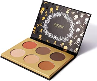 Docolor Cosmetics Contour Palette,Goth Series 6 Colors Makeup Palette Cosmetics Contouring and Highlighting Makeup Kit - Vegan, Cruelty Free & Hypoallergenic