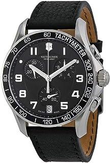 Victorinox - Swiss Army - Reloj analógico de Cuarzo para Hombre con Correa de Piel, Color Negro
