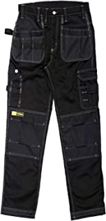 Forja Work Trousers Men - Heavy Cargo Trouser Men with Holster and Knee Pad Pockets. Black Combat Trousers for Men. Ideal ...