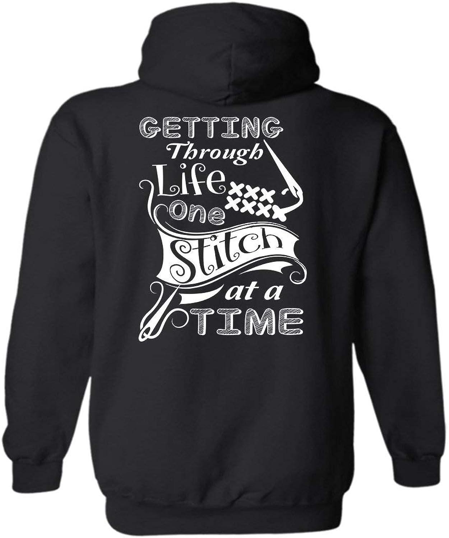 3df09740 ZiraS Funny Cross Stitch Unisex Hooded Sweatshirt, Long Sleeve Hoodie