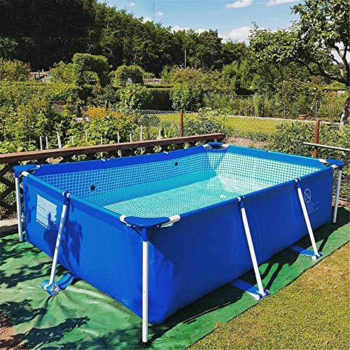 """WYX 87 """"X59 X24 Rahmen Stahlrohr Rechteckiger Platz Pool Pfeifenständer Teich Großer Bracket Above Ground Sommer-Pool-Spiele"""