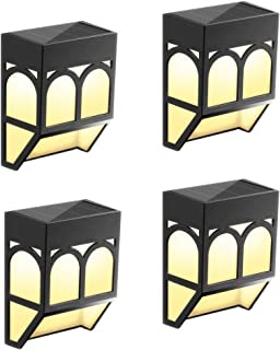 HOWADE Solar Fence Lights, Waterproof Security Solar LED Outdoor Wall Lights Wireless for Deck, Fence, Patio, Front Door, ...
