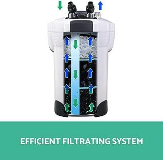 Aquarium External Canister Filter Aqua Fish Tank UV Light +MEDIA KIT 1400L/H