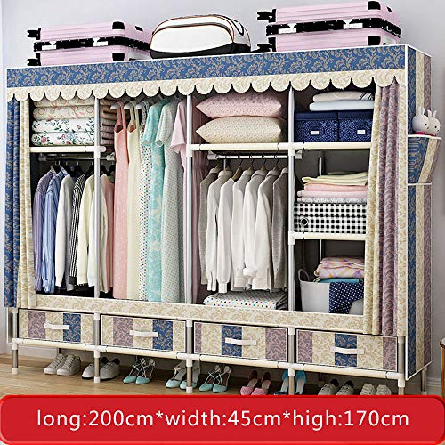 Purchase Wardrobe Multifunctional, Portable Simple, Cloth, Household Clothes Storage Cabinet, Vertic...