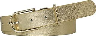 Tommy Hilfiger 3.0 Fancy Reversible Belt for Women - Leather, Corporate Chevron, Multi Color, Size 75 cm