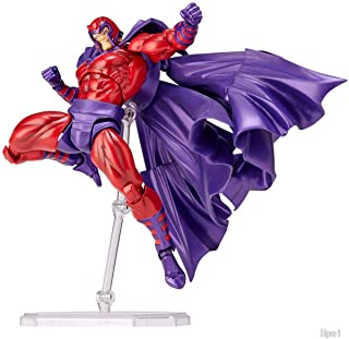 X-Men: Dark Phoenix Magneto Action Figure Revoltech ABS & PVC pre-Painted - 6 inches Toy Doll Model Car Pendant for X-Men Fans and Kids