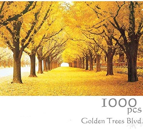 Wooden Jigsaw Puzzle 1000 Pieces,tranquil Series Golden Trees Blvd_Ig00 Jigsaw Puzzles 1000 Pieces For Adult Special Graduation Or Birthday Gift Home Decor Unique Gift Stress Reliever