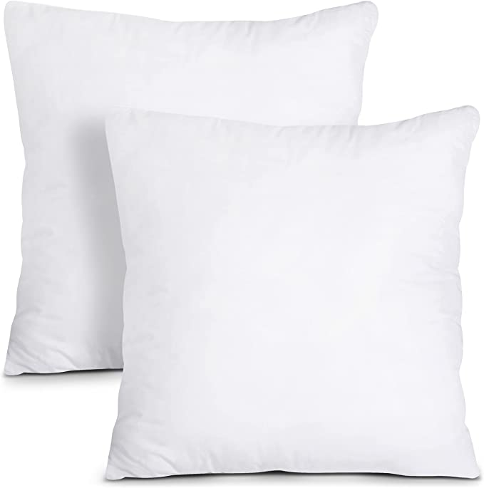 Utopia Bedding Throw Pillows Insert (Pack of 2, White) - 26 x 26 Inches Bed and Couch Pillows - Indoor Decorative Pillows