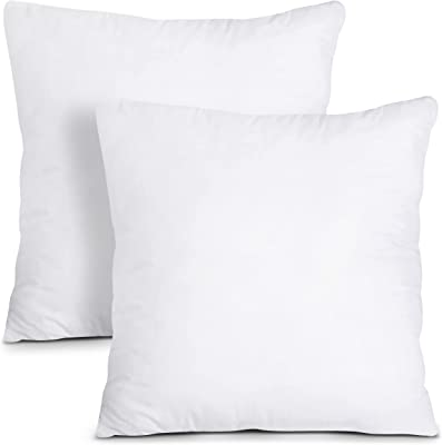 Utopia Bedding Coussins de Garnissage 45 x 45 cm (Lot de 2) - Coussin à Recouvrir - Oreillers Intérieur - Rembourrage Coussins - Housse en Mélange de Coton (Blanc)