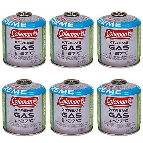 Coleman 6 x Schraubkartusche 300 g Ventil Gas Kartusche Kocher Butan Propan Mix
