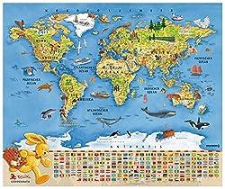 Kinderweltkarte zum Aufhängen (▷Übersicht) - Der große Vergleich!