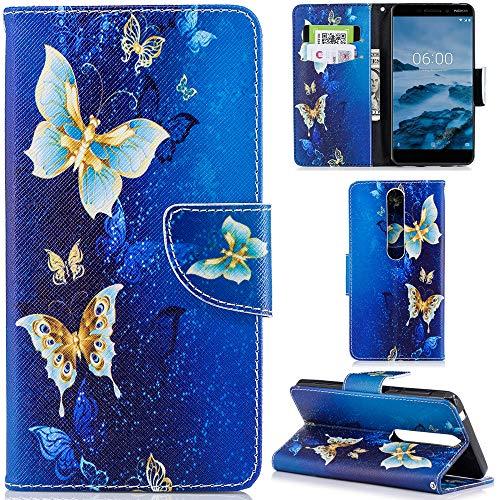 Ooboom® Nokia 1 Custodia Flip in Pelle PU Cuoio Copertura Case Cover Wallet Portafoglio Supporto Stand con Carte di Credito e Porta per Nokia 1 - Gufi