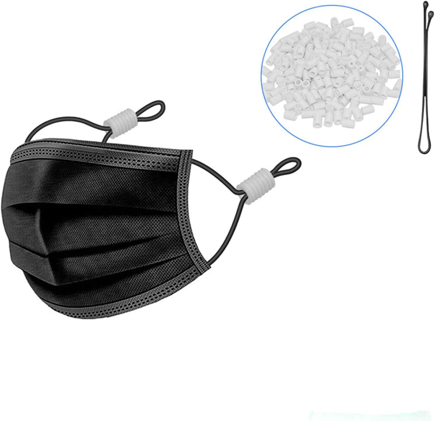 Cord Locks trend rank Silicone Toggles Super special price for Elastic Adjustm Drawstrings Mask