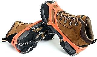 کشش یخ ، لوازم جانبی کفش یخی برف TADAMI ، زنجیرهای کششی با 8 خوشه ضد زنگ ضد لغزش برای راه رفتن روی یخ و برف ، چسباندن برف برای چکمه های برفی و کفش برای پیاده روی آهسته