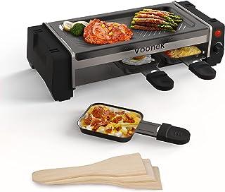 Raclette 2 Personnes Mini Gril Raclette avec Thermostat Réglable, Plaque de Cuisson Antiadhésive Amovible, 3 Mini Coupelle...