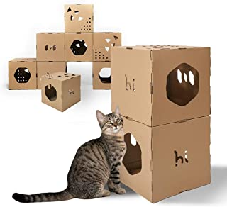 A4pet Foldable Cat House Cube Condo With Cat Bed And Cat Toy Hanging Ring Cat Houses Condos Cat Trees Condos Femsa Com