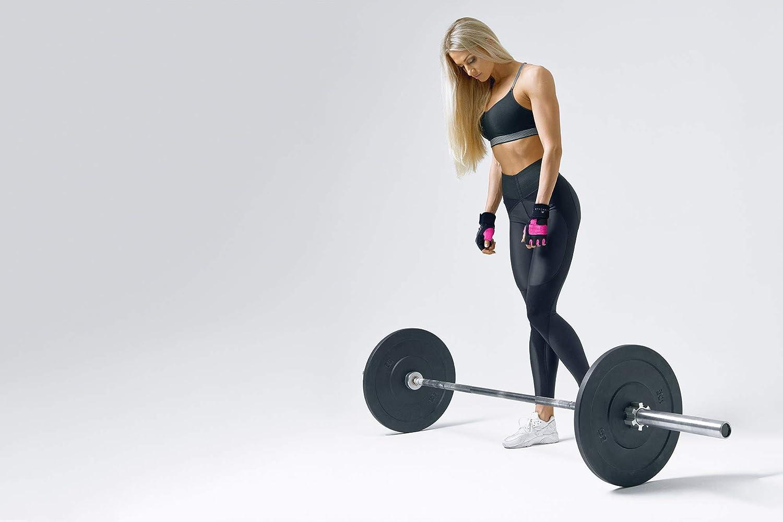 Pelle Sollevamento Pesi Guanti Allenamento Gym Esercizio Fitness Imbottita