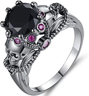 Jude Jewelers Retro Vintage Skull Gothic Statement Promise Cocktail Party Biker Ring