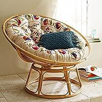 Aashi Enterprise Cane Papasan Comfortable Folding Chair with Cushion (Cane Natural)