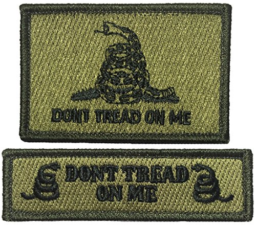 Tactical Don't Tread On Me and Tab Morale Patch - OD (Olive Drab) - By Ranger Return (TACT-DONT-ATAB-OD)