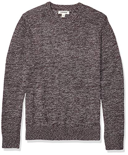 Amazon Brand - Goodthreads Men's Supersoft Marled Crewneck Sweater, Burgundy Large