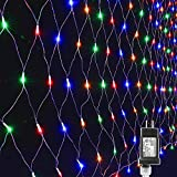 Lyhope 12ft x 5ft 360 LED Decorative Net Lights, 8 Modes Low Voltage Mesh Fairy Christmas Lights for Xmas Trees, Bushes, Wedding, Garden, Outdoor, Indoor Decor (Multi-Color)