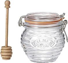 Kilner Honey Pot and Drizzler Spoon, 400ml, Transparent 01642