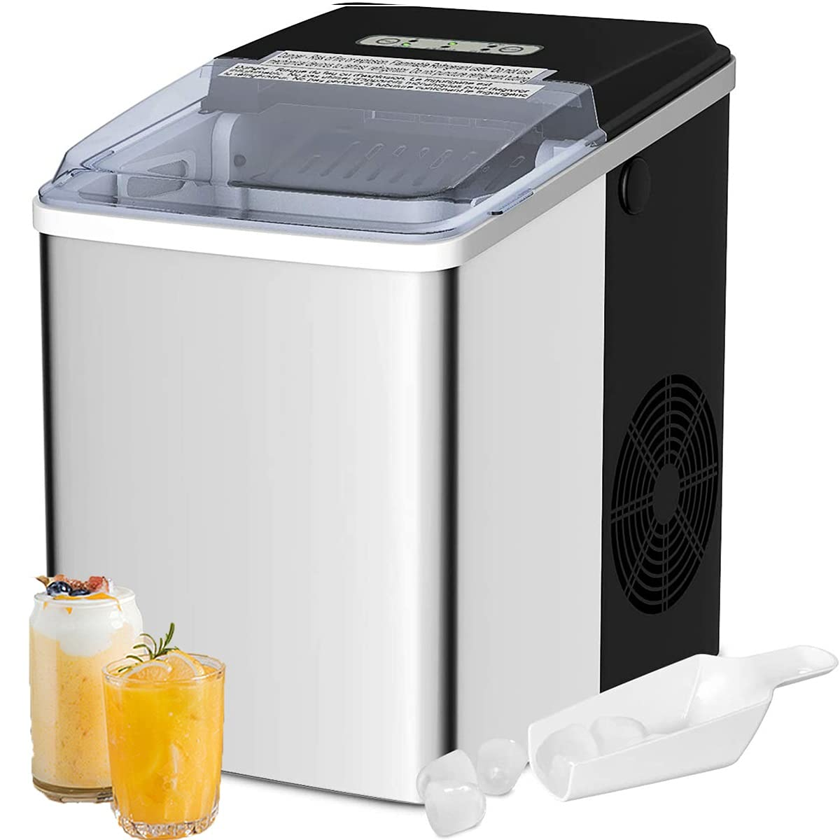 Countertop Ice Price reduction Makers Machine 26.5 24 Electric Portable Hour LBS Free shipping on posting reviews