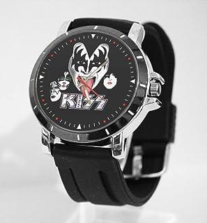 custom gift Kiss Rock Band Logo Metal Sport Rubber Band Big Face