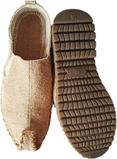 Tianrui Crown Men Handmade Espadrilles Shoe Slip-on Loafer Flat Shoe