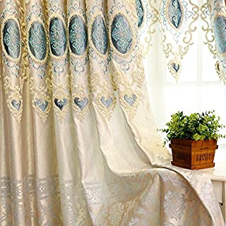 MZPRIDE Luxury European Handmade Curtain Exotic Paisley Chenille Jacquard Drapes Blackout Curtains For Living Room