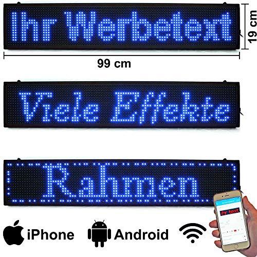 LED-Laufschrift 99x19 Blau WiFi