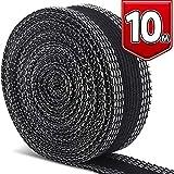 LEOBRO 裾上げテープ 超ロングタイプ 10m巻 23mm幅 黒 片面すそ上げテープ アイロン熱接着テープ 布用接着テープ 裾上げ 裾直し用