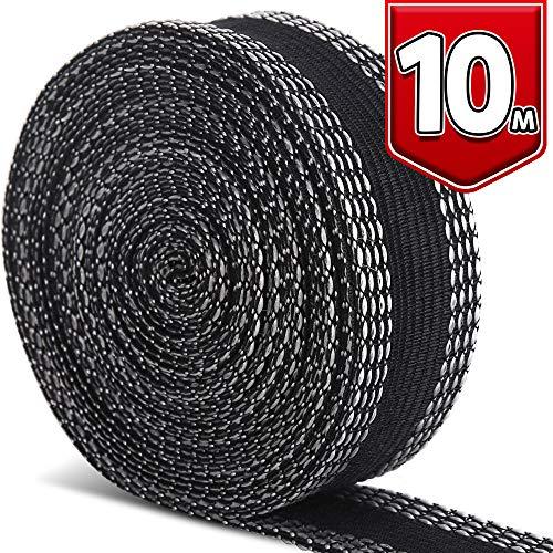 LEOBRO裾上げテープ超ロングタイプ10m巻23mm幅黒片面すそ上げテープアイロン熱接着テープ布用接着テープ裾上げ裾直し用