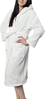 176e46fad322b Twinzen ⭐ Peignoir Femme Certifié sans Produits Chimiques, 100% Coton -  Peignoir de Bain