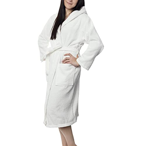 Twinzen Women s Bathrobe (XS to XL) - Luxury 100% Cotton Bathrobes 59194e765