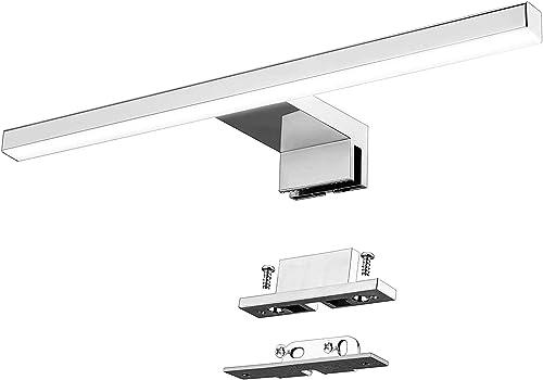 Lampe Miroir Salle de Bains LED 5W 400lm Azhien,IP44 Blanc Neutre 4000K 30cm Armoire Miroir Murale lumière Acier Inox...