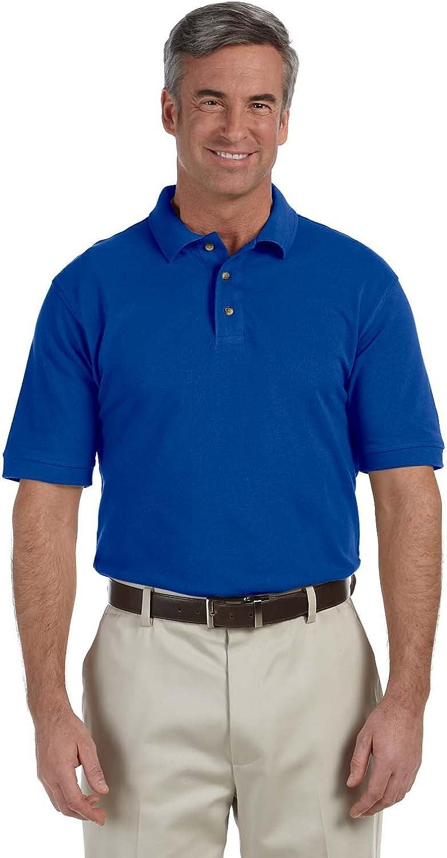 Harriton Tall 6 oz. Ringspun Cotton Piqué Short-Sleeve Polo, XLT, TRUE ROYAL