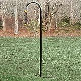 Droll Yankees Shepherd Hook for Bird Feeder, Garden Hanger Pole Outdoor Hanging Metal Stand, 77 Inch, Black, SEP